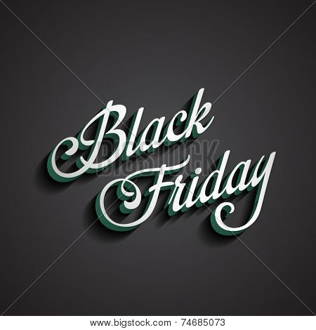 Black Friday type calligraphic typography. Sale Discount Calligraphy element classic vintage retro style design.