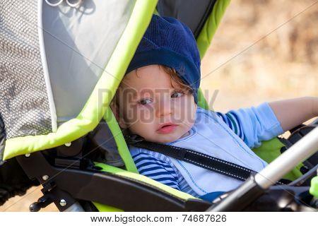 Babby Boy In Stroller