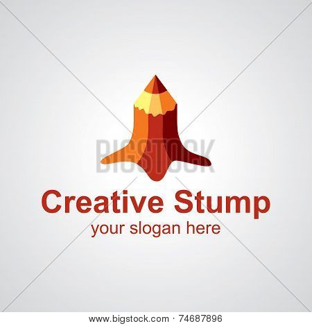 Creative Stump Vector Logo Design