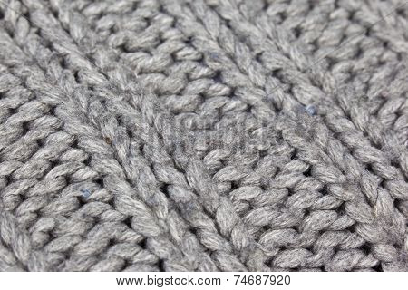Texture Of A Warm Grey Cardigan