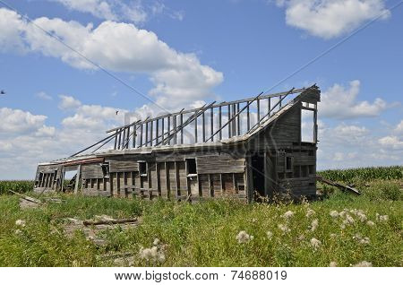 Frame of an old barn