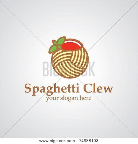 Spaghetti Clew Vector Logo Design