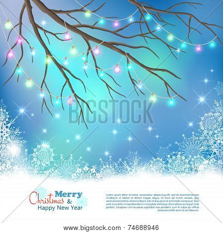 Christmas Light Bulbs Vector Background