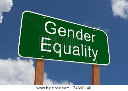 Gender Quality Ahead Sign