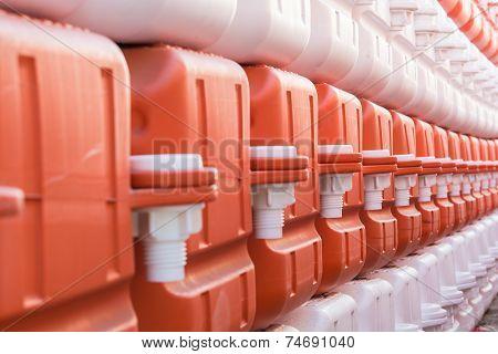 Orange And White Plastic Buoy
