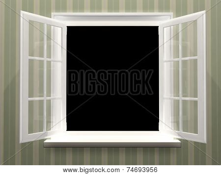 Open window. 3d render