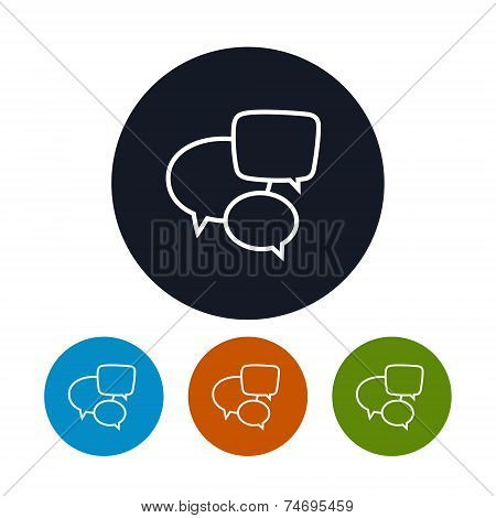 Speech Bubble Icon, Vector Illustration