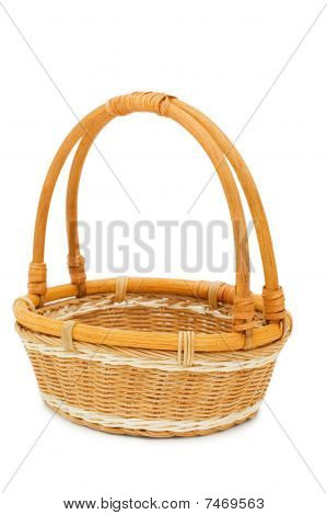 Wattled Basket Isolated On White Background