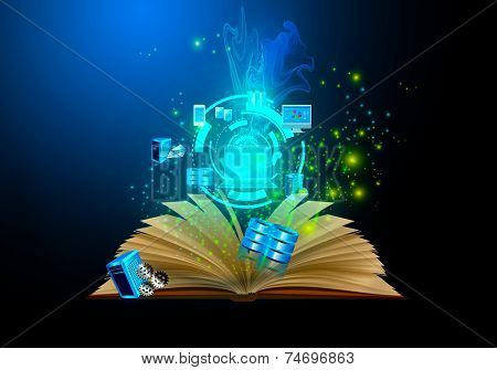 Book wizard, technology illustrations