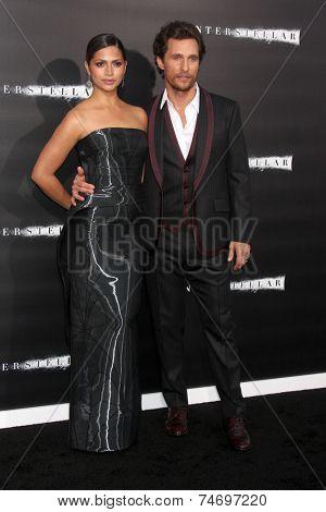 LOS ANGELES - OCT 26:  Camila Alves McConaughey, Matthew McConaughey at the