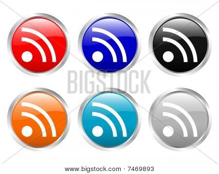 Glossy Buttons Rss Symbol