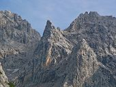 stock photo of bavarian alps  - Mountain Peak in the Bavarian Alps - JPG