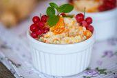 picture of millet  - sweet pumpkin porridge with berries and millet - JPG
