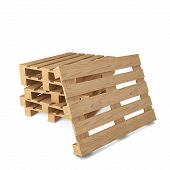 picture of wooden pallet  - Wooden pallets - JPG