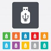 picture of usb flash drive  - Usb sign icon - JPG