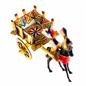 stock photo of horses ass  - a Sicilian cart model isolated over a white background - JPG