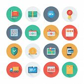 stock photo of internet shop  - Pixel perfect flat icons set with long shadow effect of e - JPG