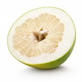 picture of pomelo  - Half pomelo citrus fruit isolated on white with clipping path - JPG