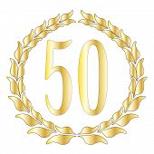 pic of 50th  - A 50th anniversary symbol over a white background - JPG