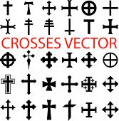 image of christian cross  - christian crosses vector - JPG