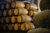pic of wine cellar  - Whiskey or wine barrels - JPG