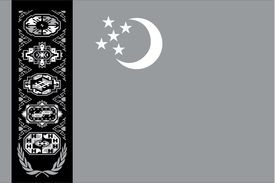 pic of grayscale  - An Illustrated grayscale flag of the country of Turkmenistan - JPG
