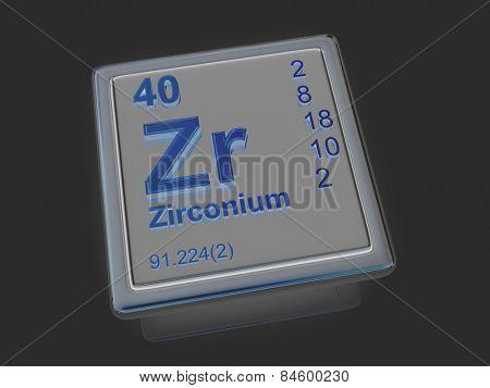 Zirconium. Chemical element. 3d