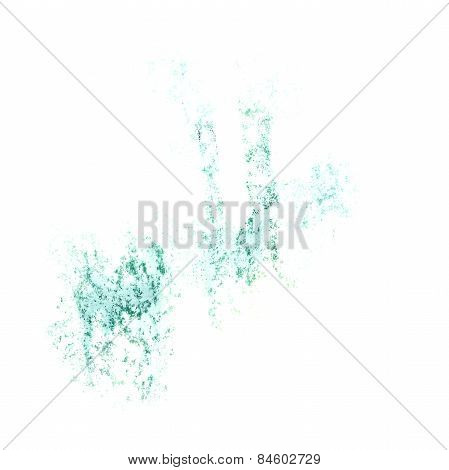 Abstract  blue watercolor background for your design insult