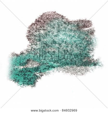 Abstract watercolor background cherry, green for your design ins