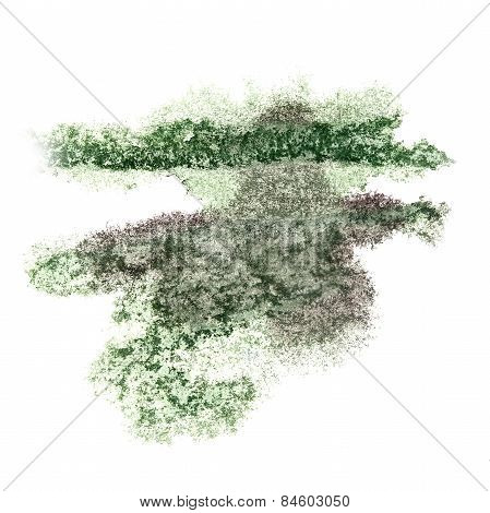 Abstract watercolor background green, black for your design insu