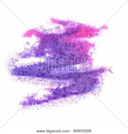 Abstract watercolor background purple, pink for your design insu