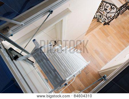 White Attic Stairs