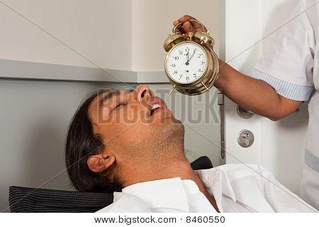 Office Worker Fallen Asleep
