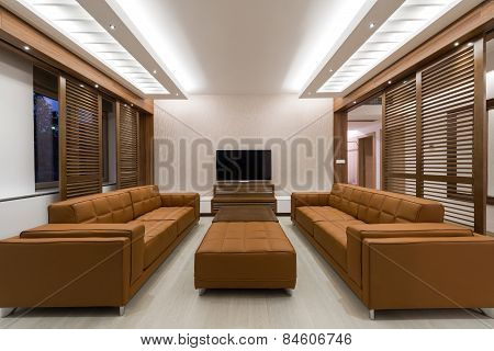 Interior Of A Modern Spacious Living Room