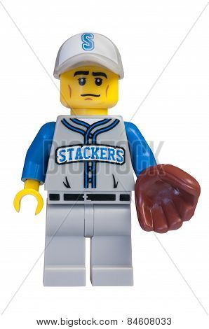 Baseball Fielder Lego Minifigure