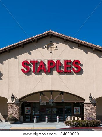 Staples Office Supply Store Vertical Image