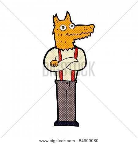 retro comic book style cartoon funny fox
