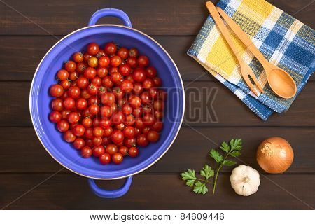 Cherry Tomatoes in Strainer