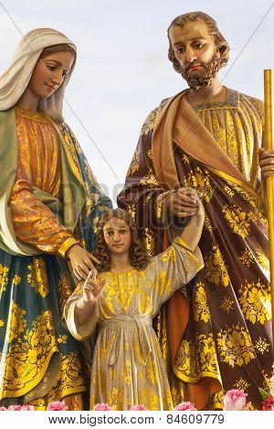 Bangkok Thailand - February 28 : The Statue Of Virgin Mary With Baby Jesus In Church Thailand, Good