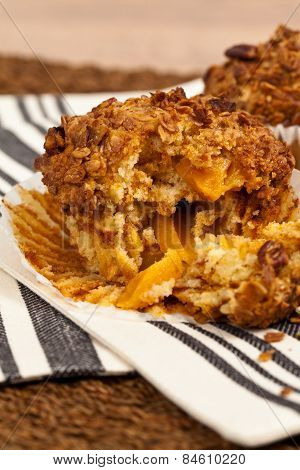 Peach Pecan and Granola Muffins