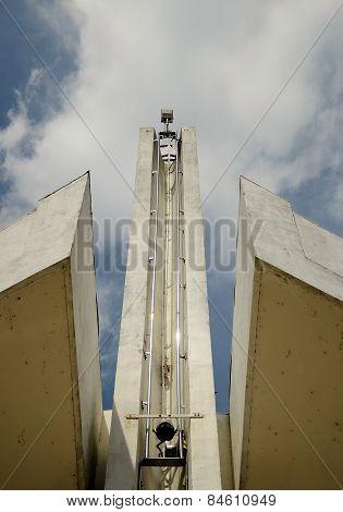 Architectural detail of Negeri Sembilan State Mosque in Negeri Sembilan, Malaysia