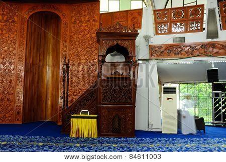 Mimbar of Negeri Sembilan State Mosque in Negeri Sembilan, Malaysia