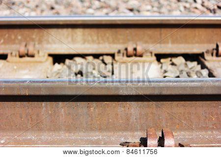train tracks close up view
