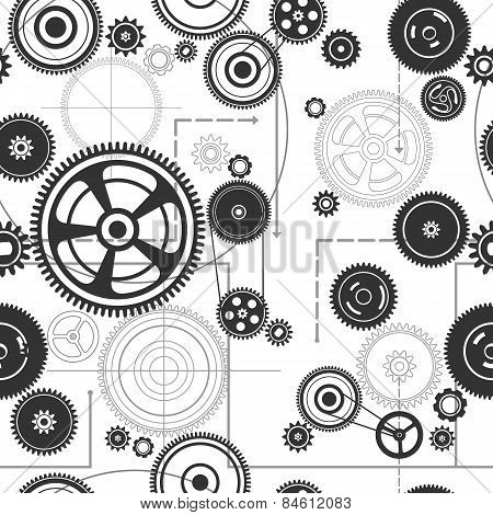 Seamless Gearwheel Mechanism Background