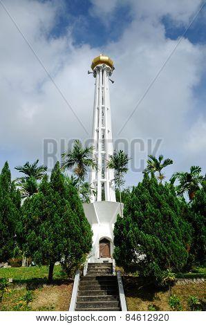 Minaret of Negeri Sembilan State Mosque in Negeri Sembilan, Malaysia