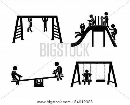 Park design, vector illustration.