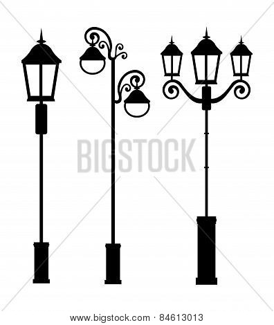Lamps design, vector illustration.