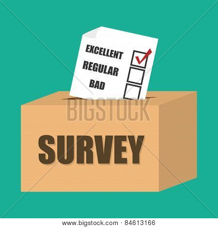 Survey design, vector illustration.