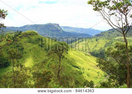 High hills in Sri Lanka