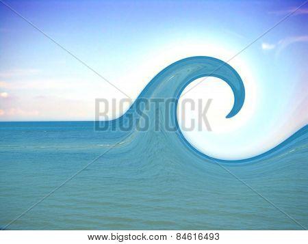 Sea Wave Under Bright Light